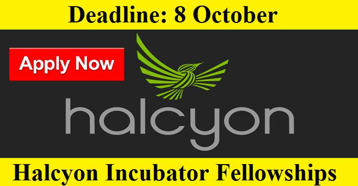 Halcyon Incubator Fellowships – Spring 2022