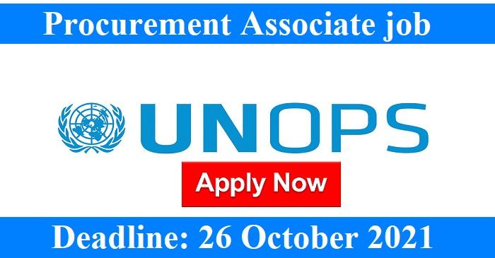 Procurement Associate job in #Geneva, #Switzerland/ UNOPS Geneva Office