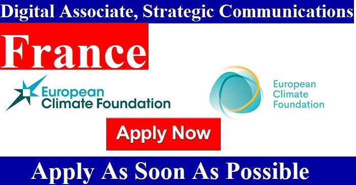 Digital Associate, Strategic Communications job in #France/ European Climate Foundation