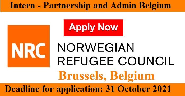 Intern – Partnership and Admin job  in #Brussels, #Belgium/ Norwegian Refugee Council
